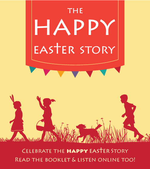 Happy Easter Egg Booklet Front Cover
